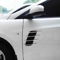 Promo Toko Allwin Sisi Kap Mobil Universal Aliran Ventilasi Fender Udara Bersih Stiker Pintu Otomatis Dibetulkan Hitam And Perak