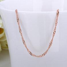 Allwin Gelombang Bentuk Singapura Gaya Perhiasan Mawar Melapisi Dgn Emas Rantai Mm X 80mm untuk C013