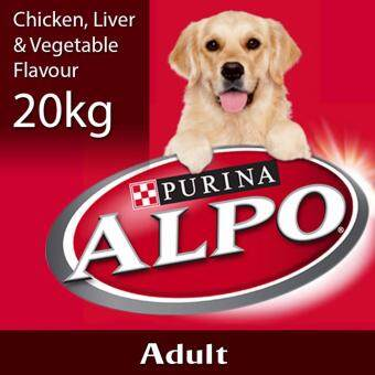 Harga ALPO(R) Chicken, Liver & Vegetable Flavour Dry Adult Dog Food Pack (1 Pack of 20kg)