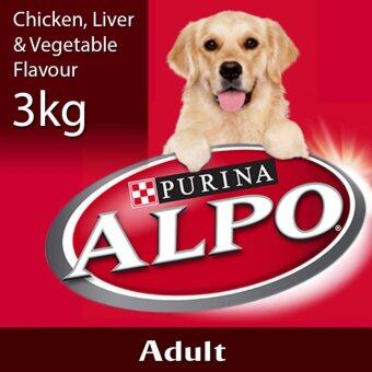 Harga ALPO(R) Chicken, Liver & Vegetable Flavour Dry Adult Dog Food Pack (1 Pack of 3kg)