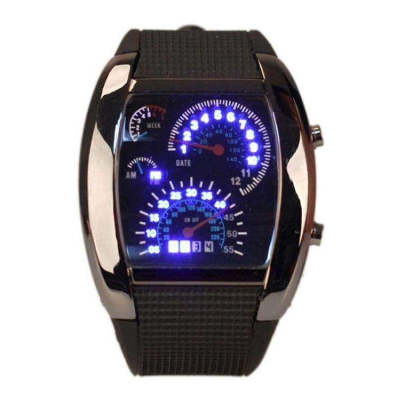 Amart Sports LED Backlight Military Digital Quartz Wrist Watch(Black) - Intl Malaysia