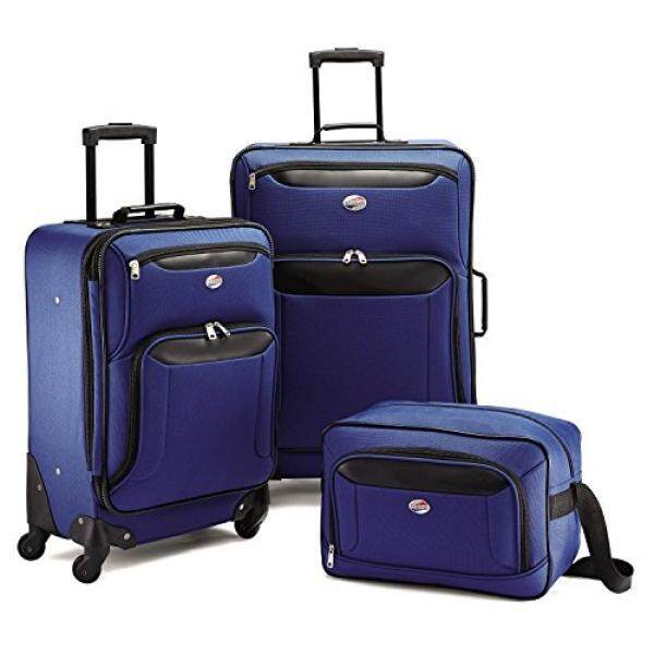 American Tourister Brookfield 3 Piece Set, Navy/Black, One Size - intl
