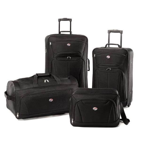 American Tourister Luggage Fieldbrook II 4 Piece Set, Black, One Size - intl