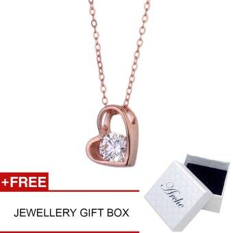 Harga Arche Jewellery Joy of Love Pendant Necklace 925 Silver Trendy Fashion Designer Jewellery (Rose Gold)