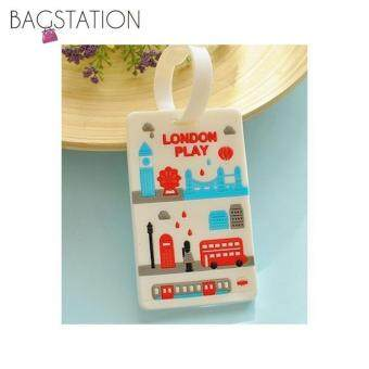 Harga Assorted designs Soft PVC Luggage Tag (London)