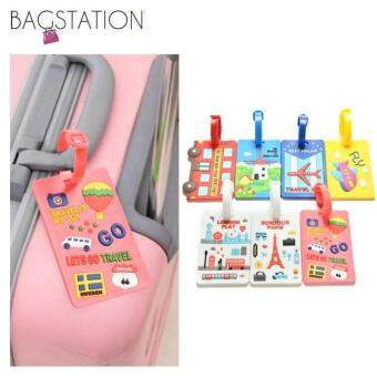 Harga Assorted designs Soft PVC Luggage Tag (Pink Travel)