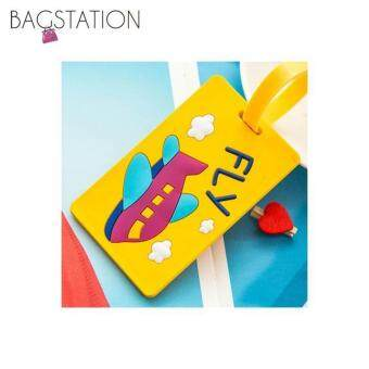 Harga Assorted designs Soft PVC Luggage Tag (Yellow Fly)
