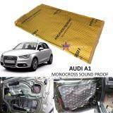 Audi A1 MONOCROSS Car Auto Vehicle High Quality Exhaust Muffler Heat Sound Proofing Deadening Insulation Mat Pad Waterproof 80x45cm (GOLD)