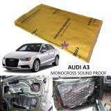 Audi A3 MONOCROSS Car Auto Vehicle High Quality Exhaust Muffler Heat Sound Proofing Deadening Insulation Mat Pad Waterproof 80x45cm (GOLD)