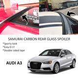 Broz Audi A3 Samurai Carbon Rear Top Windscreen OEM Glass Spoiler (3.5cm)