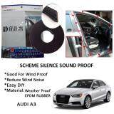Audi A3 SCHEME SILENCE (Double D) DIY Air Tight Slim Rubber Seal Stripe Sound & Wind Proof & Sound Proof for Car (4 Doors)