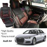 Broz Audi A4 Red Lining Design Universal Car PU Seat Mat with Lumbar Support Per Piece