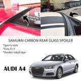 Broz Audi A4 Samurai Carbon Rear Top Windscreen OEM Glass Spoiler (3.5cm)