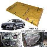 Audi A5 MONOCROSS Car Auto Vehicle High Quality Exhaust Muffler Heat Sound Proofing Deadening Insulation Mat Pad Waterproof 80x45cm (GOLD)