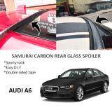 Broz Audi A6 Samurai Carbon Rear Top Windscreen OEM Glass Spoiler (3.5cm)