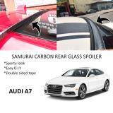 Broz Audi A7 Samurai Carbon Rear Top Windscreen OEM Glass Spoiler (3.5cm)