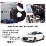 Audi A7 SCHEME SILENCE (Double D) DIY Air Tight Slim Rubber Seal Stripe Sound & Wind Proof & Sound Proof for Car (4 Doors)