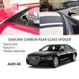Broz Audi A8 Samurai Carbon Rear Top Windscreen OEM Glass Spoiler (3.5cm)