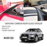 Broz Audi Q3 Samurai Carbon Rear Top Windscreen OEM Glass Spoiler (3.5cm)
