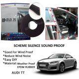 Audi TT SCHEME SILENCE (Double D) DIY Air Tight Slim Rubber Seal Stripe Sound & Wind Proof & Sound Proof for Car (4 Doors)