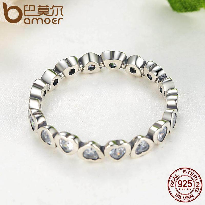 Toko Authentic 100 925 Sterling Silver Love Heart Selamanya Stackable Ring Clear Cz Kompatibel Dengan Perhiasan Hadiah 6 7 8 9 Ukuran Pa7124 Intl Murah Di Tiongkok