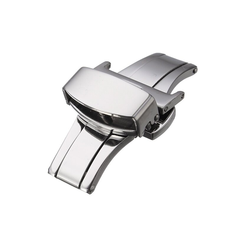 Automatic Double Click Butterfly Buckle Watch Push Button Fold Deployment Watchband Clasp Strap Buckles 18mm Malaysia
