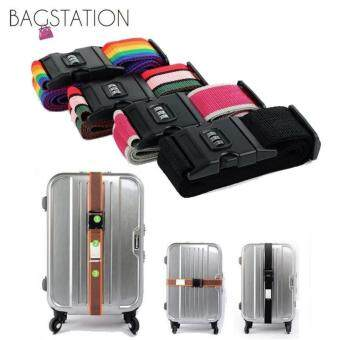 Harga Bagstationz Adjustable Luggage Strap Belt with 3-Dial Security Lock(Black)
