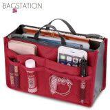 BAGSTATIONZ Premium Lightweight And Water-Resistant Multi-Compartment Bag-In-Bag Organizer (Red)