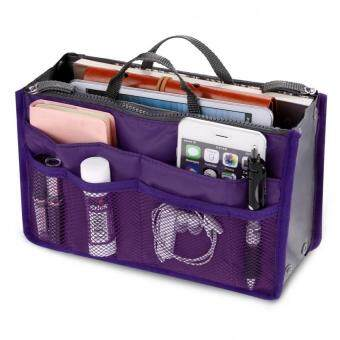 Harga Bagstationz Premium Lightweight and Water-ResistantMulti-Compartment BAG IN BAG Organizer (Purple)