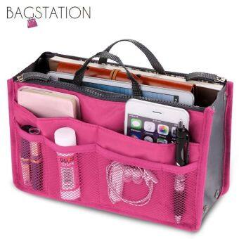 Harga BAGSTATIONZ Premium Lightweight And Water-ResistantMulti-Compartment Bag-In-Bag Organizer (Rose Pink)