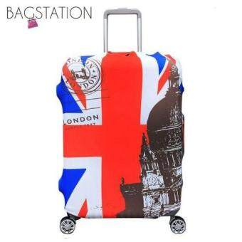 Harga BAGSTATIONZ PREMIUM VERSION Stretchable Travel Luggage ProtectiveCover (UK Flag)