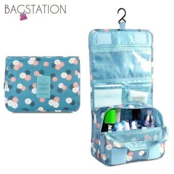 Harga BAGSTATIONZ Printed Multipurpose Travel Organizer and ToiletriesPouch (Blue)