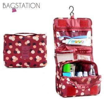 Harga BAGSTATIONZ Printed Multipurpose Travel Organizer and ToiletriesPouch (Maroon)