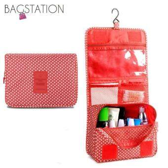 Harga BAGSTATIONZ Printed Multipurpose Travel Organizer and ToiletriesPouch (Red)