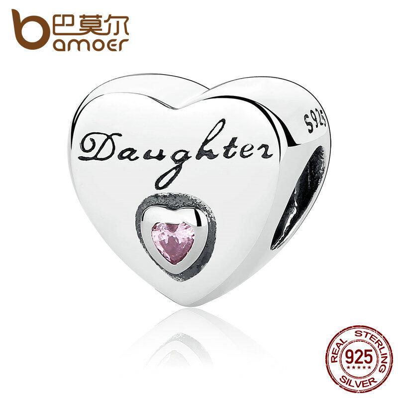 Promo Bamoer Hadiah 925 Sterling Silver Cinta Putri Pink Cz Bead Charms Fit Gelang Wanita Berkualitas Tinggi Fine Jewelry Pas323 Akhir Tahun