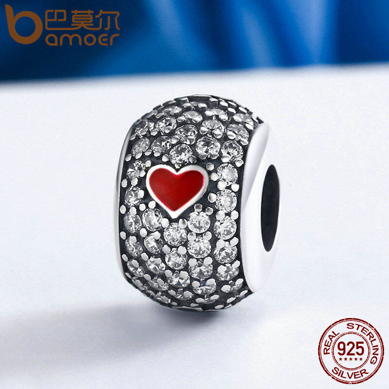 Top 10 Bamoer High Quality 925 Sterling Silver Sparkling Poker Bead Fit Original Charm Bracelet Jewelry Gift Scc153 Intl Online