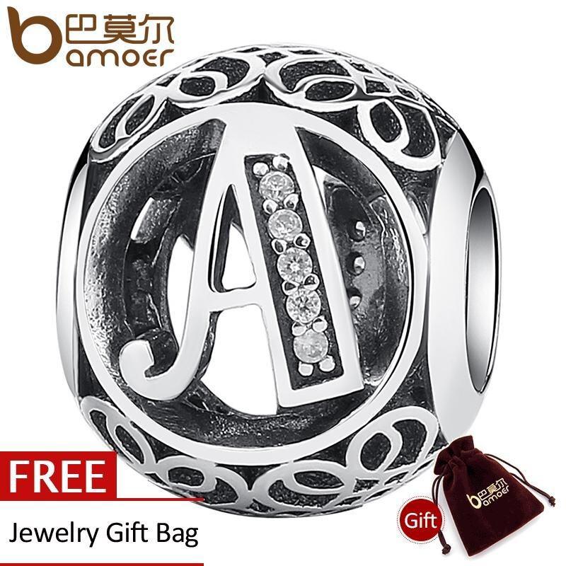 Beli Bamoer Sederhana Classic 925 Sterling Perak Alfabet Yang Letter Bead Charms Fit Diy Gelang Kalung Perhiasan Aksesoris Psc008 A Bamoer Asli
