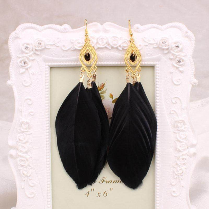 Diskon Bc Fashion Feather Long Earrings Buy One Get One Free