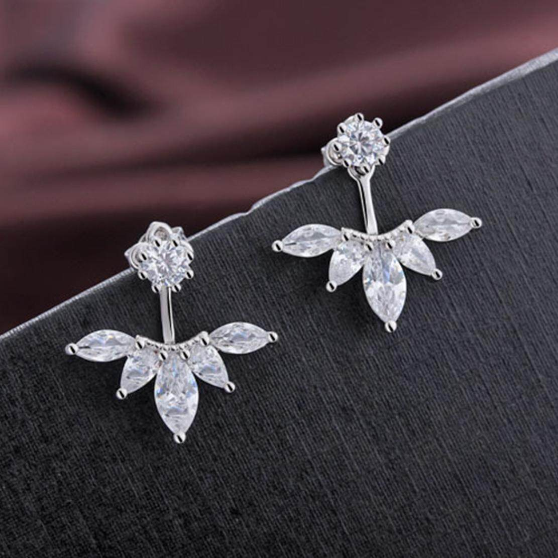 Spesifikasi Bc Silver Olive Like Earrings Anti Allergy Shining Fashion Simple Copper Plated Platinum Zircon Simulation Diamond Earrings For Lover Mom Lady Bc