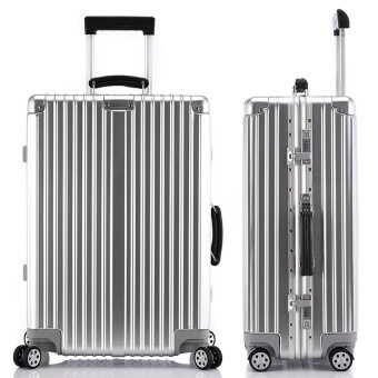 Harga Best Luggage Sale Brand suitcase Sizes 26 Inch Silver