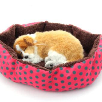 Blackhorse Cute Red Tempat Tidur Anjing Peliharaan Ranjang Anjing dan Kucing Yang Lembut Kapas Bulu Sarang