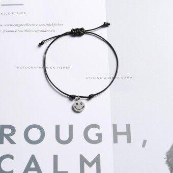 Blackhorse Kreatif Desain Gelang Berenda Wajah Tersenyum Gelang Berliontin untuk Wanita Pria Pasangan Kekasih Perhiasan Jimat