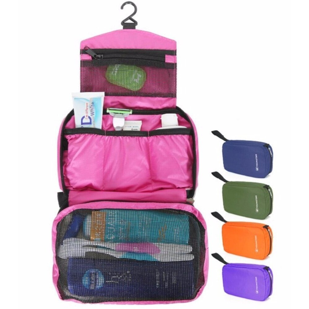 Travel Wash Bag - Multifunction Travel Hanging Wash Bag - Random Colour