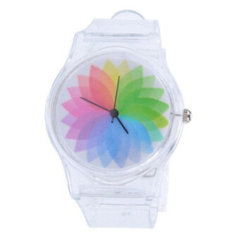 Harga Bluelans Boy's Girl's Transparent Jelly Silicone Band Sports QuartzWrist Watch