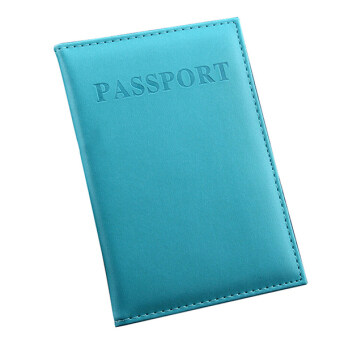 Bluelans(R) Travel Passport ID Card Cover Holder Case Faux Leather Protector Organizer Sky
