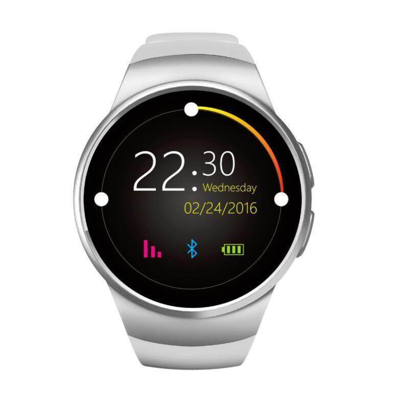 Bluetooth Smart Watch Phone KW18 SMTK2502C SIM&TF Card Heart Rate Wearable Smartwatch Black Color:White Malaysia