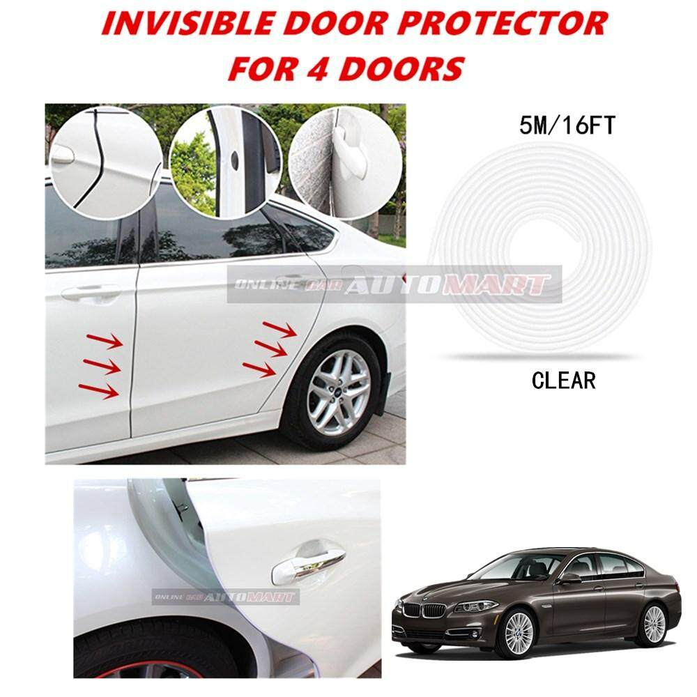 BMW Series 5 (E60/F10/F07/E61/F11) - 16FT/5M (CLEAR) Moulding Trim Rubber Strip Auto Door Scratch Protector Car Styling Invisible Decorative Tape (4 Doors)