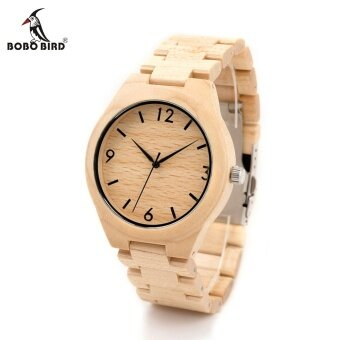 BOBO BIRD H01 Pine Wooden Quartz Watch Jam Tangan Christmas Season Gift Design for Anniversary Edition Series of Wooden Watch Jam Tangan es Maple OEM 01