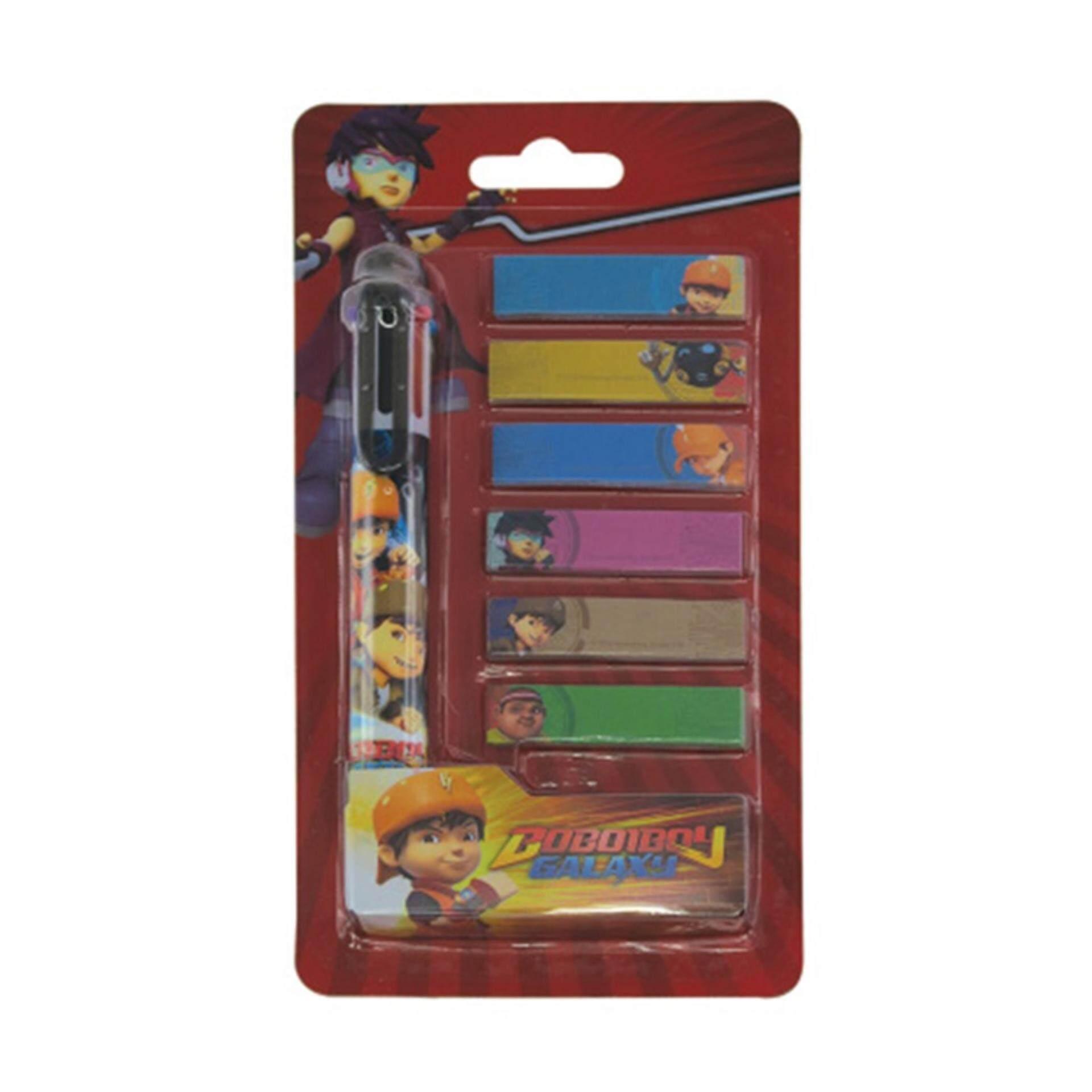 Boboiboy Galaxy Ball Pen Set - Red Colour