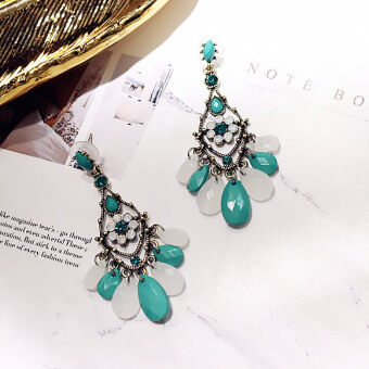 Bohemian tassled elegant bride dress earrings retro earrings
